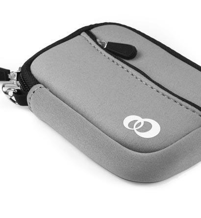 Digital Case Pouch Camera Exilim - - Kroo EVA Neoprene Quality Gray Mini Sleeve Case Bag for Casio Exilim EX-S8 Digital Camera (+ 1pc Lost-n-Found ID Tag) ..... Best Seller on Amazon!