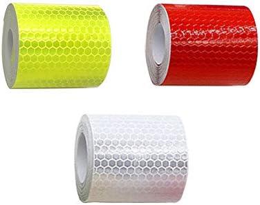 Salzmann 3M Reflektorband Hergestellt mit 3M Reflektierendem Material Zuschneidbares Warnklebeband