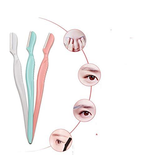 Attrezzo di trucco del dispositivo di rimozione dei capelli del rasoio del sopracciglio di Shaper della guancia del regolatore del rasoio del sopracciglio di 3Pcs LadyBeauty