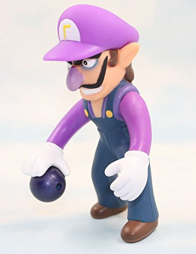 Super Mario Bros Waluigi 10cm PVC Action Figure Mini Action Figures Doll Anime Collection Model Toy