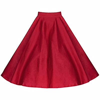 Samtree Women's Vintage 50s Style Polka Dots Pleated Full Circle Swing A-Line Skirt
