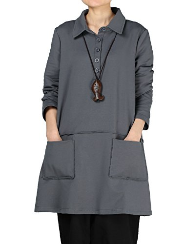 Mordenmiss Womens Sleeve Tunic Pockets product image