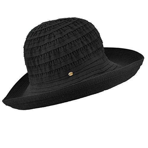 (Betmar Women's Classic Sunshade Sun Hat, Black One Size)