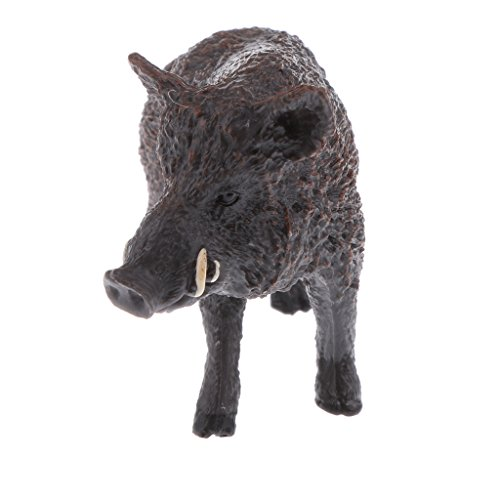 Baoblaze Simulation Science & Nature Wildlife Animal Model Figurine Kids Toy Collection Home Decoration Party Favors- Wild Boar