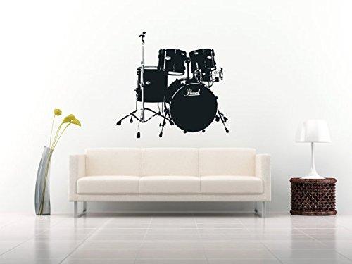 - CreativeWallDecals Wall Decal Vinyl Sticker Decals Art Decor Design Brums Percussion Instruments Music Live Rock Star Gift Man Modern Bedroom (r141)