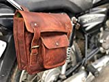 VINTAGE CRAFT SHOP Leather Side Pouch Motorcycle