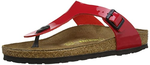 BIRKENSTOCK Gizeh Womens Tango Red Lacquer Birko-Flor Thongs 35 EU (4-4.5 N US Women) by Birkenstock