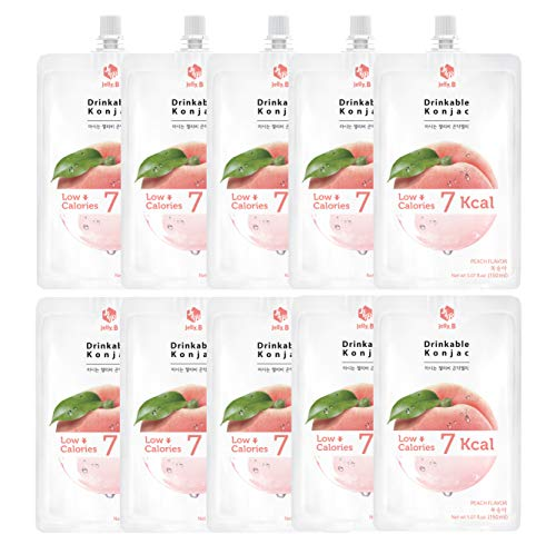 Jelly.B Drinkable Konjac Jelly (10 Packs of 150ml) - Healthy and Natural Weight Loss Diet Supplement Foods