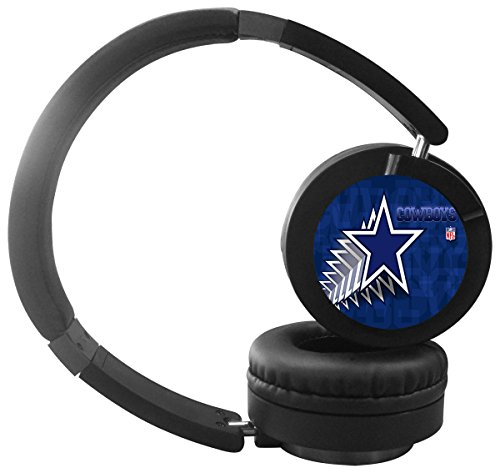 Dallas Cowboys Bluetooth Headphones with Mic Over Ear, Hi-Fi Stereo Wireless Headset