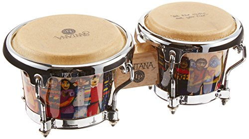 Latin Percussion LPM200-AW Santana Mini Tunable Wood Bongos