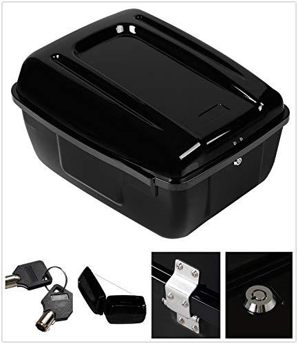 TCT-MT Tour Pack Pak Trunk Saddlebag For Harley All Police FLHP FLHTP Models Road King Electra Glide Gloss Black Painted -