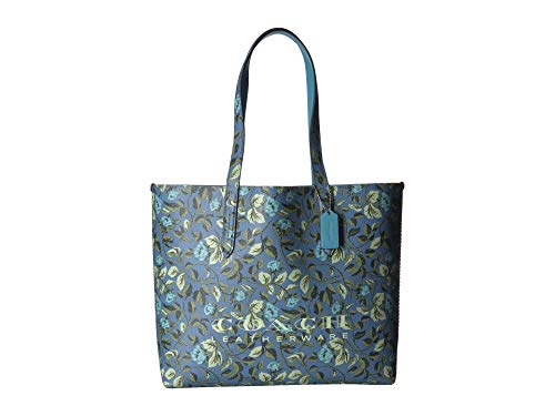 COACH Women's Floral Print Coach Highline Tote Slate/Silver One Size