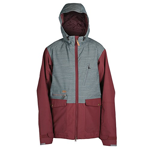 Ride Snowboard Outerwear Men's Northlake Jacket, Burgundy/Slate Slub, - Stores Northlake