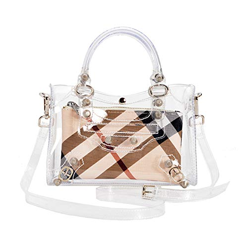 Jelly Tracolla Transparent Borsa Mini Fashion Trasparente Ladies Mano Messenger Bag Borsa GODW Locomotive Impermeabile Estate A fpRxw