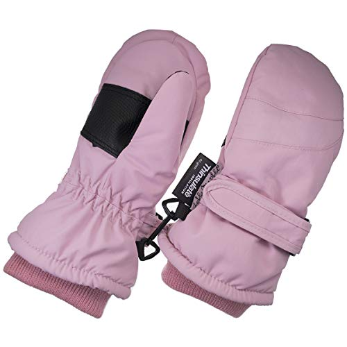 Children Toddlers and Baby Mittens Made With Thinsulate,and Fleece - Winter Waterproof Gloves By Zelda Matilda Light Pink, 3-4 Years