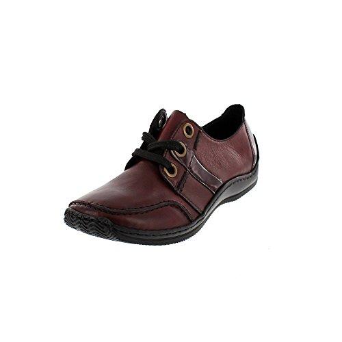 Rieker L1720 Zapatillas de cuero para mujer Rot