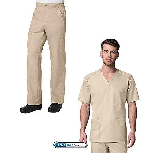 eon-active-by-maevn-mens-3-pocket-v-neck-top-half-elastic-8-pocket-cargo-pants-scrub-set-medium-tall