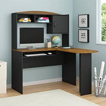 computer desk corner lshaped ergonomic study table hutch home office