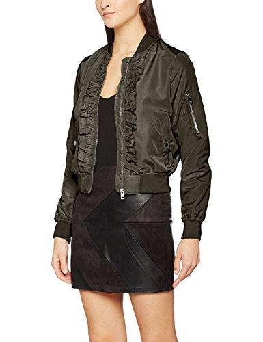 Peat Blouson Gris Vero Vmdicte Short Jacket Femme Moda Frill nxn1q6wR8
