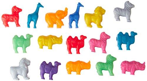 The Beadery 4-Ounce Bag of Mixed Safari Shape Beads, Circus Multi Colors