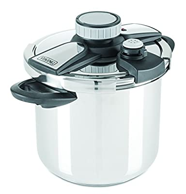 Viking Stainless Steel Pressure Cooker with Easy Lock Lid, 8 Quart