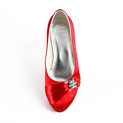 Minitoo , Escarpins pour femme - rouge - Red-1cm Heel, 38