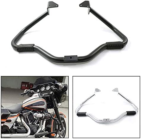 Black COPART Motorcycle Engine Guard Highway Crash Bars Bumper Protector for Harley Dyna Street Bob FXDB Fat Bob FXDF Low Rider Super Glide 2006-2017