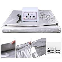 InLoveArts Silver Infrarrojo Lejano Sauna Manta Body Shaper Pérdida de peso Sauna Manta de adelgazamiento Máquina de terapia de desintoxicación para Spa personal