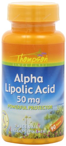 Thompson Alpha Lipoic Acid Tablets, 50 Mg, 90 Count