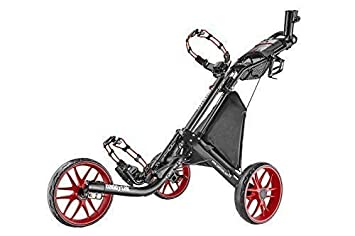 caddytek EZ V2 3-rad Trolley Trolley Carrito Carro De Golf Trolley de empuje 3wheel Marco Charcoal negro mate Ruedas Rojo (Negro/Rojo): Amazon.es: Deportes ...