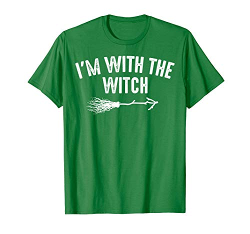 I'm With The Witch Shirt | Cute Halloween Husband Wife Gift ()