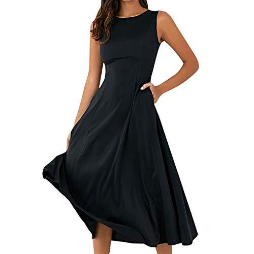 (Keliay Bargain Women's Dresses Casual Sleeveless Dresses A-line Dress Tank Dress)