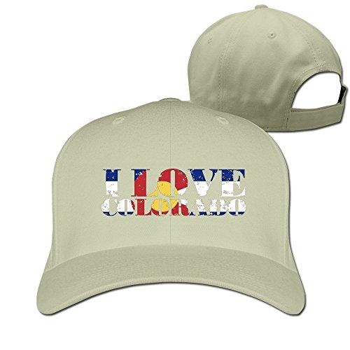 Runy Custom I Love Colorado Adjustable Hunting Peak Hat & Cap - Denver Shops Cherry Creek