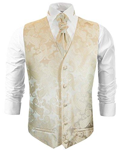 Champagne Tuxedo Vest - Paul Malone Champagne Paisley Tuxedo Vest Set