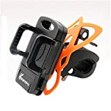 Bike Mount Phone, Vansky Bike Phone Mount Bicycle Holder, Holder Cradle for Smartphone iPhone GPS Devices with 360 Degrees Rotatable, Rubber Strap, Black