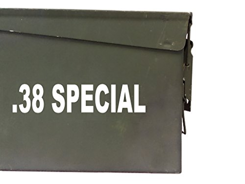 FGD .38 Special Ammo Box Decal Sticker Label Set Two 6.5