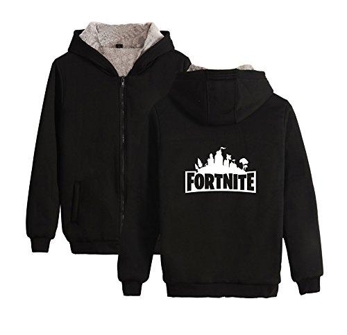 Pullover Cappuccio Unisex Giacche Maniche Fashion Felpe Invernale Black Hoodie Sweatshirt Per Fortnite Uomo Ailient E Con Pile Calda Lunghe Cerniera Donne wpvqfdIW