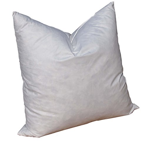 Pillowflex 95% Feather by 5% Down Pillow Form Insert Stuffers for Throw sham Covers and Cushions (17 Inch by 17 Inch)
