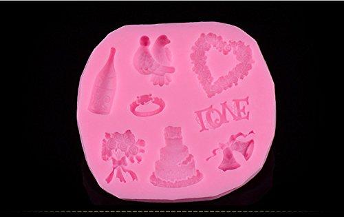 GYwink Molde de Molde para Pastel Molde de Chocolate Cookie Candy Mold Kit Cake Bakeware Herramienta de Cocina DIY Molde De Hornear