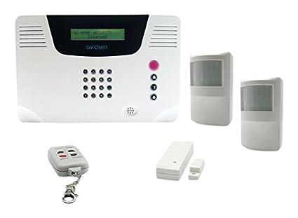 Avidsen 100740 - Alarma multizona detectores infrarrojos inalámbricos con 2/1 interruptor abierto/remoto