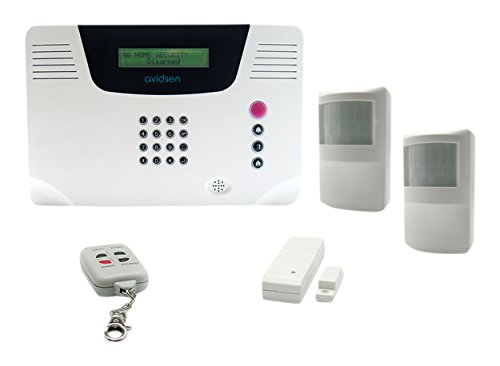 AVIDSEN 100740 Alarme multizones sans Fil 1 t/él/écommande 1 d/étecteur douverture 2 infrarouges Blanc