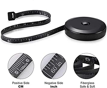 Tailor Sewing Craft Cloth Dieting Measuring Tape Retractable Tape Measure Body Measuring Tape 60-Inch 1.5 Meter 2