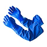 LANON PVC Coated Chemical Resistant Gloves, 26 Inch Reusable Heavy Duty Safety Work Gloves, Elbow Length, Non-Slip, X Large
