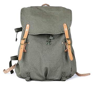 Gootium Canvas Backpack – Vintage Military Rucksack Travel Dayack