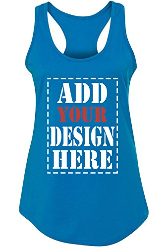 Custom Tank Tops for Women - Design Your Own Racerback Tank Top - Customized & Personalized Tanktops Turquoise