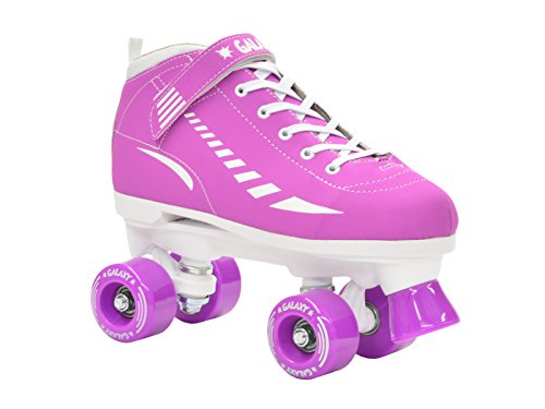 Epic Skates Galaxy Elite Kids Quad Speed Skates, Purple,...