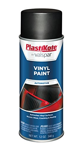 PlastiKote 405 Flat Black Vinyl Paint, 12 oz. - Black Plastic Dash