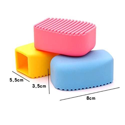 WEIWEITOE-ES Cepillo de Mano Tareas de lavander/ía de Silicona de Color Caramelo Pincel de Limpieza de Ropa Limpia Cepillo para Frotar Mini lavander/ía Color Aleatorio,