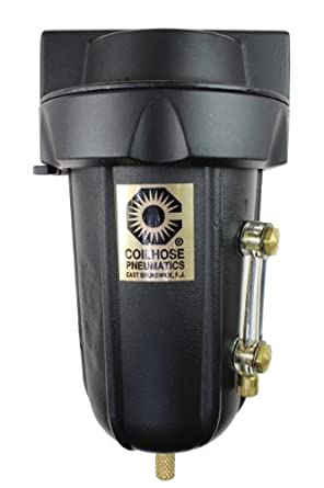 Coilhose Pneumatics 8826MD Heavy Duty Series Filter, 3/4-Inch Pipe Size with Metal Bowl and Sight Glass, and with Automatic Drain