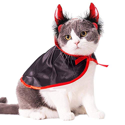 Magic Cloak - Cat Costume Christmas Pet Costumes Cape Hat Halloween Apparel And Cats - Girls Holder Clothes Scratch Women Office Cats Accessories Home Pink Prime Kids -